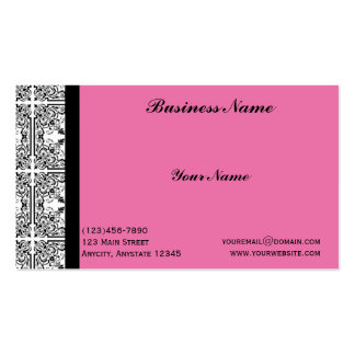Damask Delight in Pink Business Card