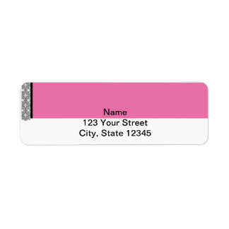 Damask Delight in Pink Manage this category Return Address Label