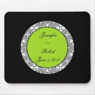 Damask Delight Lime Green Mousepad