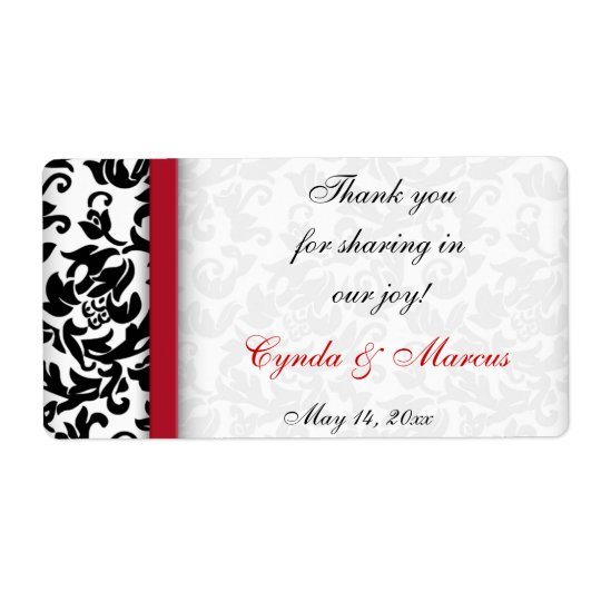 Damask Delight Shipping Label
