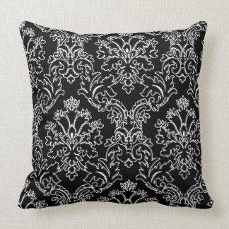 Damask Designed Decorative Throw Pillow