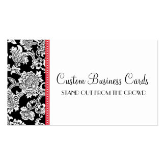 Damask Dot Double-Sided Standard Business Cards (Pack Of 100)