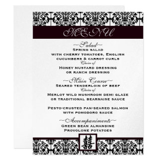 Damask double happiness menu card