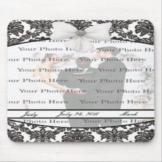 Damask Elegance Wedding Mouse Pad