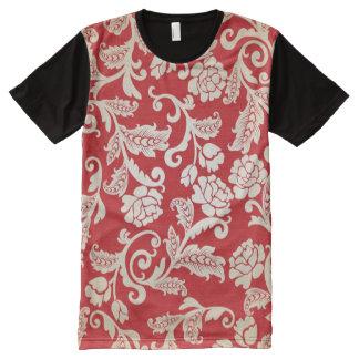 Damask floral background pattern All-Over print T-Shirt