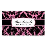 Damask Floral Elegant Modern Pink and Black