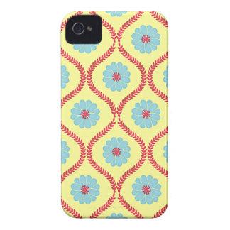 Damask floral mums flower daisy wallpaper pattern iPhone 4 case