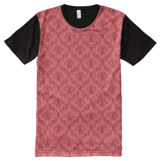 Damask floral pattern All-Over print T-Shirt