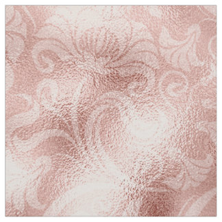 Damask Floral Shimmer Rose Gold ID461 Fabric