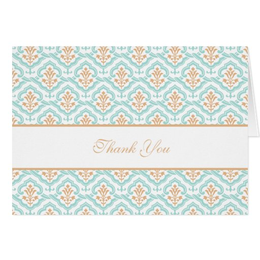 Damask Floral Wallpaper Collection Thank You Card