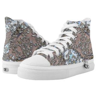 Damask Flowing Dance Elegance Printed Shoes
