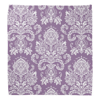 Damask French Lilac Basic Color Complementing Bandana