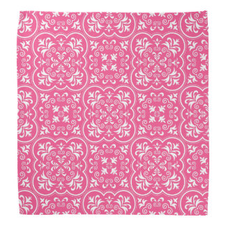 Damask French Rose Upscale Colorful Bandana