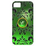 DAMASK GEM MONOGRAM green iPhone 5 Case