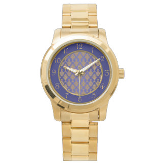 Damask Gold on Royal Blue Watch