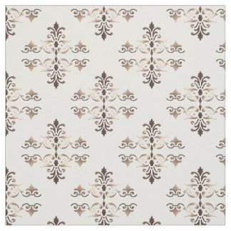 Damask golden element. fabric