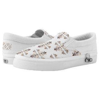 damask golden pattern Slip-On shoes