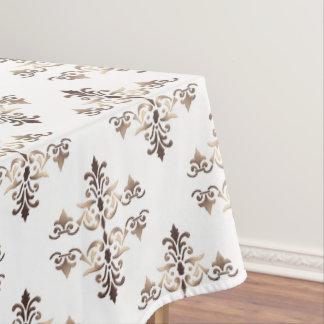 damask golden pattern tablecloth