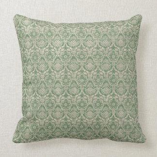 Damask Green Pattern Cushion