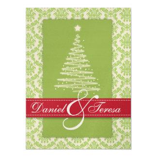 Damask Holiday TREEngagement Invitation