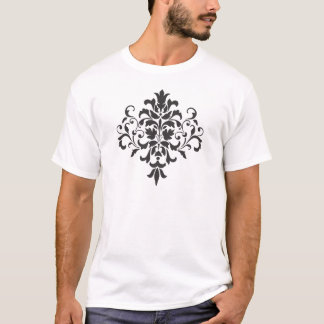 Damask in Elegant Black and White T-Shirt