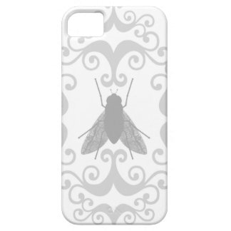 Damask insect fly flies nature girly goth pattern barely there iPhone 5 case