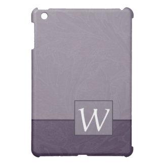 Damask Lavender Monogram iPad Mini Case