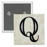 Damask Letter Q - Black Badge