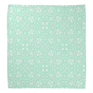 Damask Light Mint Designer Colored Bandana