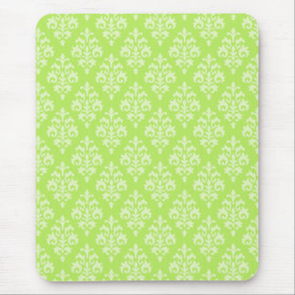 Damask Lime Green Mousepad