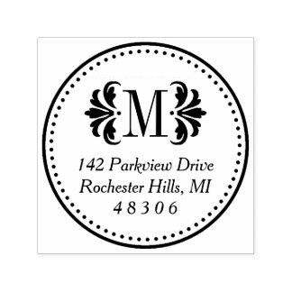 Damask Monogram | Return Address Self-inking Stamp