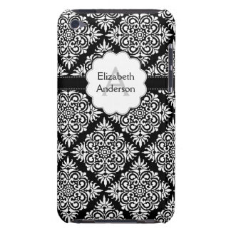 Damask Monogrammed Black Case-Mate iPod Touch Case