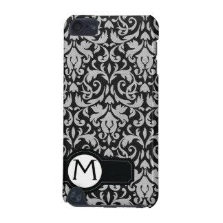 Damask Monogrammed IPod Touch Case Black