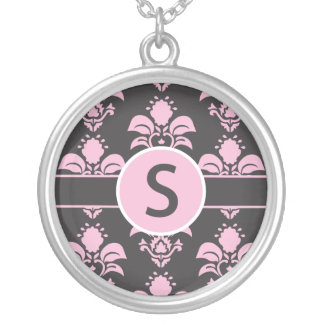 "Damask Necklace Initial ""S"""