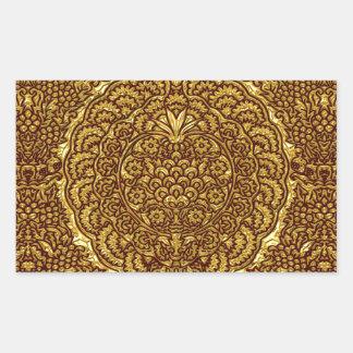 Damask of Queen Margaret I of Denmark's dress Rectangular Sticker