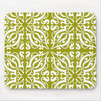 DAMASK - Olive Green Mouse Pad