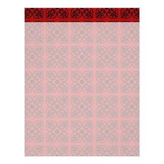 Damask on dark red 21.5 cm x 28 cm flyer