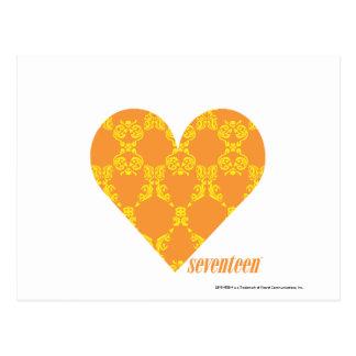 Damask Orange-Yellow 2 Postcard