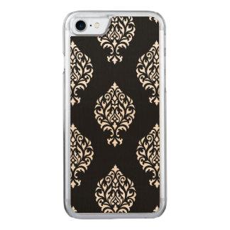 Damask Ornamental Large Ptn White on Black Carved iPhone 8/7 Case