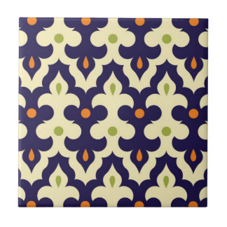 Damask paisley arabesque Moroccan pattern Ceramic Tile