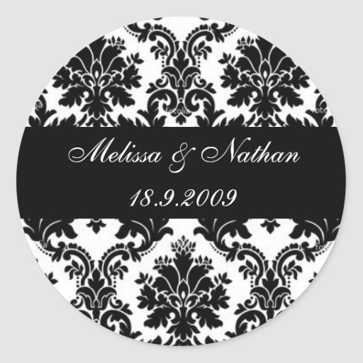 Damask paisley personalised stickers