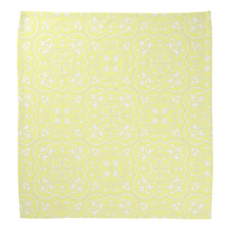 Damask Pastel Yellow High Quality Color Matching Bandana