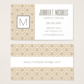 Damask pattern 3 business card