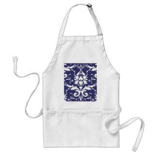 Damask pattern adult apron