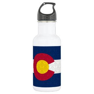 Damask Pattern Colorado Flag 532 Ml Water Bottle