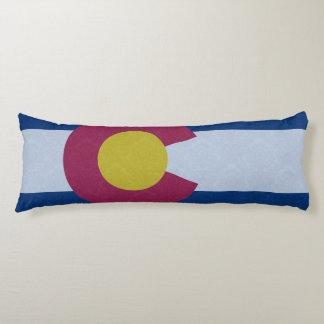 Damask Pattern Colorado Flag Body Pillow