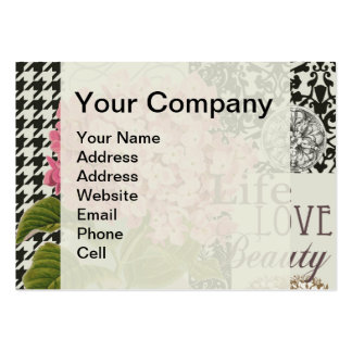 Damask Pattern Floral Decorative Collage Pack Of Chubby Business Cards