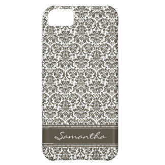 Damask Pattern iPhone 5 Case-Mate Case (chocolate)