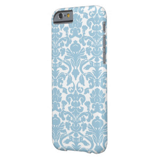 Damask Pattern - Light Blue Barely There iPhone 6 Case