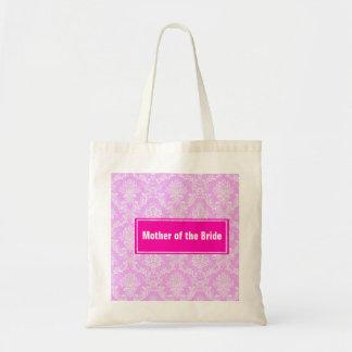 Damask Pattern Mother of  Bride Wedding Tote Bag